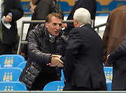 02.10.2013 Manchester, England. Liverpool manager Brendan Rodgers before the Group D UEFA Champions League game between, Manchester City and Bayern Munich from the Etihad Stadium.