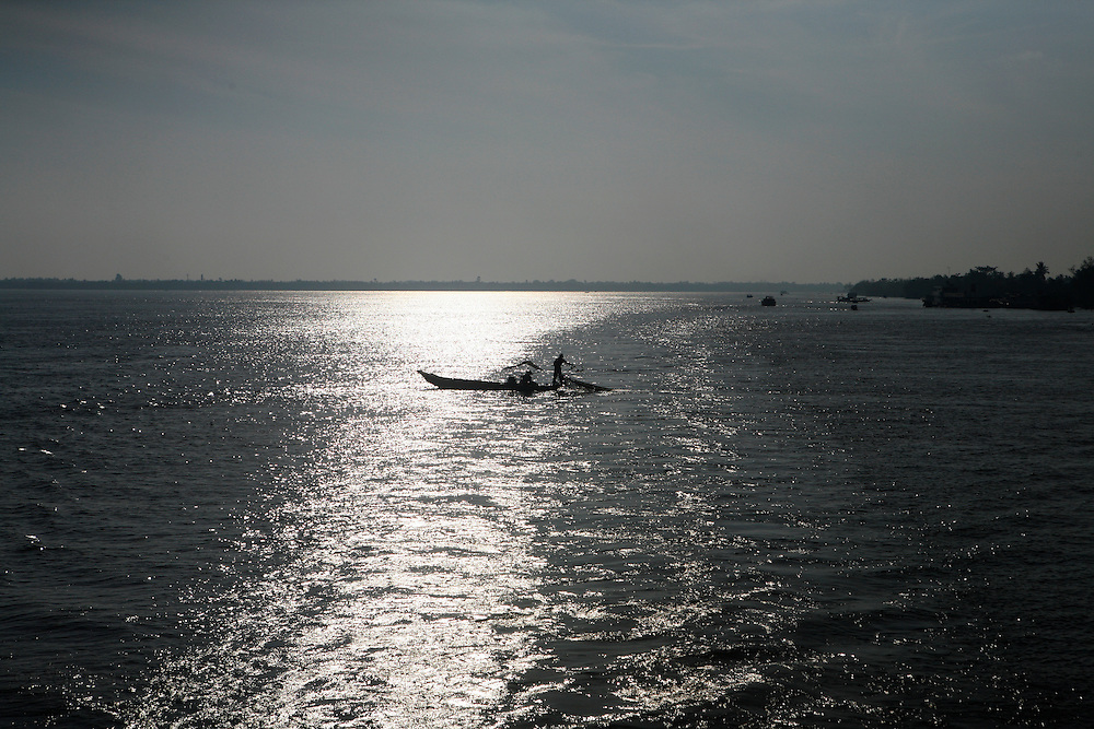 On the Mekong River, Vietnam. March 18th 2007.