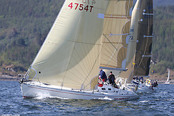 The Clyde Cruising Club's Scottish Series held on Loch Fyne by Tarbert. Day 2 racing in a perfect southerly<br /> <br /> GBR4754 , Sunrise , S.& N. Chalmers  , CCC , Sigma 400
