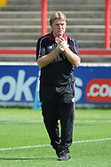 Scunthorpe United Recently Appointed Manager, Stuart McCall during the EFL Sky Bet League 1 match between Accrington Stanley and Scunthorpe United at the Fraser Eagle Stadium, Accrington, England on 1 September 2018.