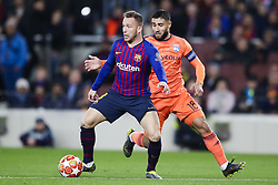 March 13, 2019 - Barcelona, Catalonia, Spain - March 13, 2019 - Barcelona, Spain - Uefa Champions League 1/8 of final second leg, FC Barcelona v Olympique de Lyon: Arthur Melo of FC Barcelona passes the ball through midfield  (Credit Image: © Marc Dominguez/ZUMA Wire)
