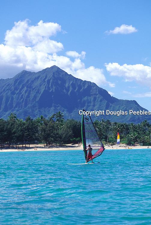 Sailboarding, Kauilua Beach, Oahu, Hawaii<br />