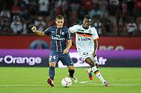 FOOTBALL - FRENCH CHAMPIONSHIP 2012/2013 - L1 - PARIS SG v FC LORIENT - 11/08/2012 - PHOTO JEAN MARIE HERVIO / REGAMEDIA / DPPI - MARCO VERRATTI (PSG) / ALAIN TRAORE (FCL)