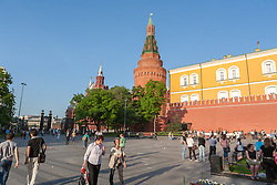 stock photo of the moscow kremlin courtyard in russia