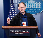 White House press conference at the White House in Washington, DC on April 10, 2018