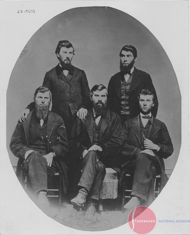 The Studebaker brothers: (L-R) Henry, Jacob, Clement, Peter, John M.
