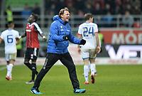 Fotball<br /> Tyskland<br /> 23.01.2016<br /> Foto: Witters/Digitalsport<br /> NORWAY ONLY<br /> <br /> Schlussjubel Trainer Ralph Hasenhuettl (Ingolstadt)<br /> Ingolstadt, 23.01.2016, Fussball Bundesliga, FC Ingolstadt 04 - 1. FSV Mainz 05 1:0