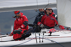 The Clyde Cruising Club's Scottish Series held on Loch Fyne by Tarbert. .Day 3 racing initially postponed awaiting  a light southerly...GBR 3111, DDZ B/one,  Luke Patience, RNCYC