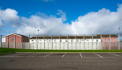 Exterior view of HMP & YOI Cornton Vale prison in Stirling, Scotland, UK