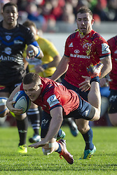 December 9, 2018 - Limerick, Ireland - Andrew Conway of Munster with the ball during the Heineken Champions Cup Round 3 match between Munster Rugby and Castres Qlympique at Thomond Park Stadium in Limerick, Ireland on December 9, 2018  (Credit Image: © Andrew Surma/NurPhoto via ZUMA Press)