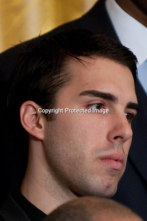 100125-Washington DC- L.A. Laker Player Sasha Vujacic , attends a ceremony to celebrate the Lakers win of the NBA championship at the White House, which President Barack Obama spoke  at in Washington DC on January 25, 2010.