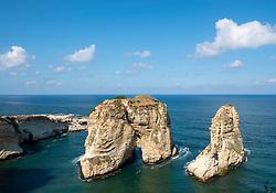 The Pigeon Rocks at Raouche, Beirut, Lebanon