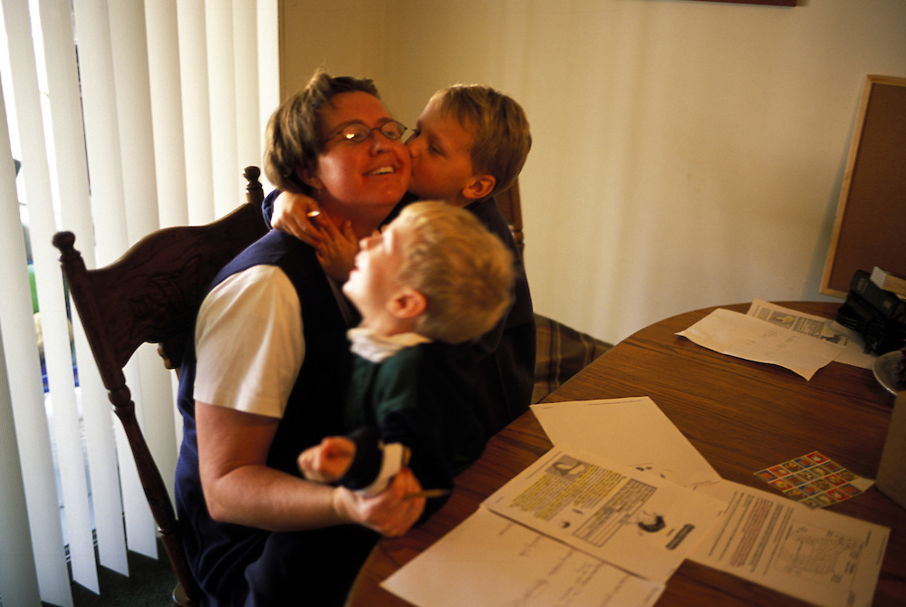 A little love for the teacher. Homeschooling does have it's advantages.
