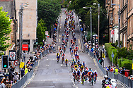 Illustration, Scenery, peloton, during the Cycling European Championships Glasgow 2018, in Glasgow City Centre and metropolitan areas, Great Britain, Day 4, on August 5, 2018 - Photo Dario Belingheri / BettiniPhoto / ProSportsImages / DPPI - Belgium out, Spain out, Italy out, Netherlands out -