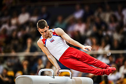 November 2, 2018 - Doha, Qatar - Max Whitlock of  Great Britain   during  Pommel Horse for Men at the Aspire Dome in Doha, Qatar, Artistic FIG Gymnastics World Championships on 2 of November 2018. (Credit Image: © Ulrik Pedersen/NurPhoto via ZUMA Press)