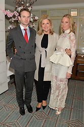 Left to right, LORD ELCHO, SERENA FRESSON and her daughter ALICE NAYLOR-LEYLAND at the launch of Mrs Alice in Her Palace - a fashion retail website, held at Fortnum & Mason, Piccadilly, London on 27th March 2014.