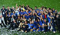 Fotball<br /> VM 2006<br /> Finale<br /> Frankrike v Italia<br /> 09.07.2006<br /> Foto: Witters/Digitalsport<br /> NORWAY ONLY<br /> <br /> Italien Weltmeister 2006<br /> Fussball WM 2006 Finale Italien - Frankreich 6:5 n.E.