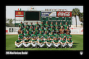 2005 Miami Hurricanes Baseball Team Photo