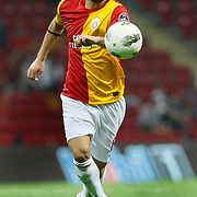 Galatasaray's Selcuk INAN during their Turkish Super League soccer match Galatasaray between Samsunspor at the Turk Telekom Arena at Seyrantepe in Istanbul Turkey on Sunday, 18 September 2011. Photo by TURKPIX