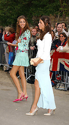 Left to right, ROSE HANBURY and MARINA HANBURY at the wedding of Laura Parker Bowles to Harry Lopes held at Lacock, Wiltshire on 6th May 2006.<br /><br />NON EXCLUSIVE - WORLD RIGHTS