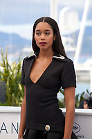 Actress Laura Harrier at the Blackkklansman (Black Klansman)  film photo call at the 71st Cannes Film Festival, Tuesday 15th May 2018, Cannes, France. Photo credit: Doreen Kennedy