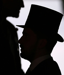 Racegoers inside the grandstand during day one of Royal Ascot at Ascot Racecourse. PRESS ASSOCIATION Photo. Picture date: Tuesday June 19, 2018. See PA story RACING Ascot. Photo credit should read: Nigel French/PA Wire. RESTRICTIONS: Use subject to restrictions. Editorial use only, no commercial or promotional use. No private sales.