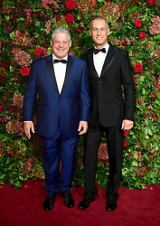 Sir Cameron Mackintosh (left) and  Michael Le Poer Trench attending the Evening Standard Theatre Awards 2018 at the Theatre Royal, Drury Lane in Covent Garden, London