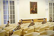 Saluto ai venticinque nuovi marescialli infermieri del Corpo sanitario dell'Esercito destinati alle Residenze sanitarie assistenziali (Rsa) del Piemonte. Torino 27 aprile 2020