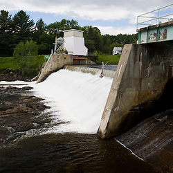 The dam on the Connecticut River between Stewartstown, New Hampshire and Beecher Falls, Vermont.