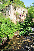 Israel, Western Galilee, Wadi Kziv Nature Reserve old watermill