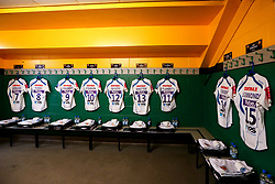 The Exeter Chiefs changing room at Franklin's Gardens ahead of the Gallagher Premiership fixture against Northampton Saints - Mandatory by-line: Robbie Stephenson/JMP - 28/12/2018 - RUGBY - Franklin's Gardens - Northampton, England - Northampton Saints v Exeter Chiefs - Gallagher Premiership Rugby