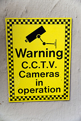 Closed Circuit Television warning sign,