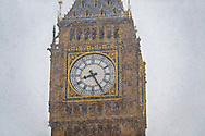 Big Ben in the snow - London England .<br /> <br /> Visit our ENGLAND PHOTO COLLECTIONS for more photos to download or buy as wall art prints https://funkystock.photoshelter.com/gallery-collection/Pictures-Images-of-England-Photos-of-English-Historic-Landmark-Sites/C0000SnAAiGINuEQ