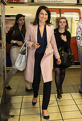 © Licensed to London News Pictures. 02/09/2015. London, UK. Labour leadership contender Liz Kendall MP arriving at Wood Green tube station. Photo credit : James Gourley/LNP