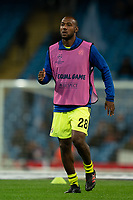 Kevin Theophile-Catherine of Dinamo Zagreb during the pre-match warm-up <br /> <br /> Football - 2019 / 2020 UEFA Champions League - Champs Lge Grp C: Man City-D Zagreb<br /> <br /> , at Etihad Stadium<br /> <br /> Colorsport / Terry Donnelly