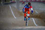 #313 (KIMMANN Niek) NED at the 2018 UCI BMX Superscross World Cup in Saint-Quentin-En-Yvelines, France.