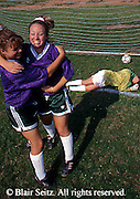 Outdoor recreation, soccer, girls soccer Middle-High School Girls Soccer Competition, Girls Celebrate Goal, York Co., PA