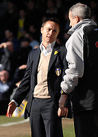 Photo: Ashley Pickering.<br />Southend United v Leeds United. Coca Cola Championship. 17/03/2007.<br />Leeds manager Dennis Wise (L) speaks with the 4th official