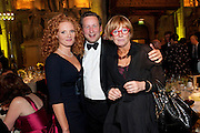 EMMA WILSON; ED VAIZEY; ANNE DIAMOND, Man Booker prize 2011. Guildhall. London. 18 October 2011. <br /> <br />  , -DO NOT ARCHIVE-© Copyright Photograph by Dafydd Jones. 248 Clapham Rd. London SW9 0PZ. Tel 0207 820 0771. www.dafjones.com.