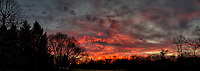 Red Clouds at Dawn. Composite of 4 images taken with a Leica CL camera and 18 mm f/2.8 lens (ISO 100, 18 mm, f/2.8, 1/80 sec). Raw images processed with Capture One Pro and AutoPano Giga Pro.