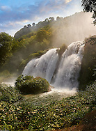 Cascata delle Marmore (Marmore Falls), part of a Roman land drainage system built 271BC, at 165 m (541 feet) high it is one of the higest man made waterfalls in Europe, near Terni, Umbria Italy. .<br /> <br /> Visit our ITALY PHOTO COLLECTION for more   photos of Italy to download or buy as prints https://funkystock.photoshelter.com/gallery-collection/2b-Pictures-Images-of-Italy-Photos-of-Italian-Historic-Landmark-Sites/C0000qxA2zGFjd_k<br /> .<br /> <br /> Visit our ROMAN ART & HISTORIC SITES PHOTO COLLECTIONS for more photos to download or buy as wall art prints https://funkystock.photoshelter.com/gallery-collection/The-Romans-Art-Artefacts-Antiquities-Historic-Sites-Pictures-Images/C0000r2uLJJo9_s0