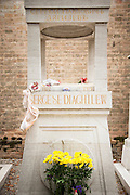 Grave of Sergei Diaghilev, Ballet promoter(1872-1929; Serge de Diaghilew) - San Michele Cemetery.Venice, Italy, Europe