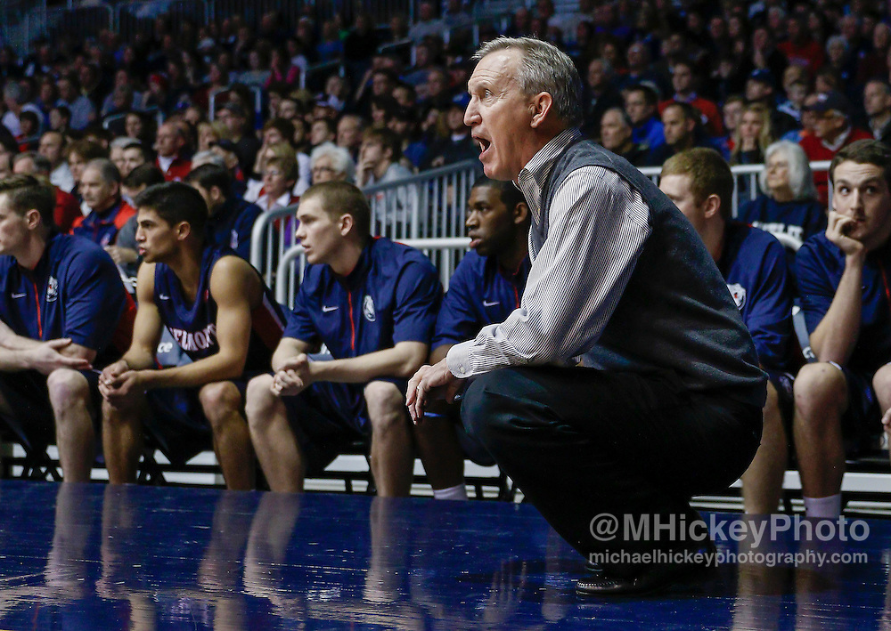 INDIANAPOLIS, IN - DECEMBER 28: Head coach Rick Byrd of the Belmont Bruins is seen during the game against the Butler Bulldogs at Hinkle Fieldhouse on December 28, 2014 in Indianapolis, Indiana. Butler defeated Belmont 67-56. (Photo by Michael Hickey/Getty Images) *** Local Caption *** Rick Byrd
