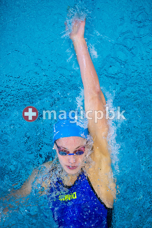 Schwimmverein beider Basel's Vanessa REBMANN of Switzerland competes in the women's 200m Backstroke Heats during the Swiss Swimming Championships at the Piscine des Vernets in Geneva, Switzerland, Saturday, March 25, 2017. (Photo by Patrick B. Kraemer / MAGICPBK)