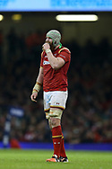 Jake Ball of Wales looks on. RBS Six Nations 2017 international rugby, Wales v Ireland at the Principality Stadium in Cardiff , South Wales on Friday 10th March 2017.  pic by Andrew Orchard, Andrew Orchard sports photography