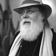 Poet Norman Dubie, outside his home in Tempe, Arizona.