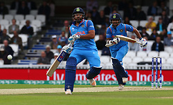 June 8, 2017 - London, United Kingdom - L-R Rohit Shama of India and Shikhar Dhawan of India.during the ICC Champions Trophy match Group B between India and Sri Lanka at The Oval in London on June 08, 2017  (Credit Image: © Kieran Galvin/NurPhoto via ZUMA Press)