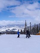 Ski school at  Keystone Ski Resort, Keystone, Colorado, USA.