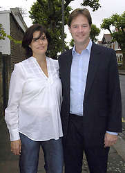 File photo dated 02/09/08 of Liberal Democrats leader Nick Clegg and his wife Miriam Gonzalez Durantez.Nick Clegg has lost his Sheffield Hallam seat to Labour.