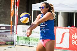 Monika Potokar of Sberbank during Qlandia Beach Challenge 2015 and Beach Volleyball Slovenian National Championship 2015, on July 25, 2015 in Kranj, Slovenia. Photo by Ziga Zupan / Sportida